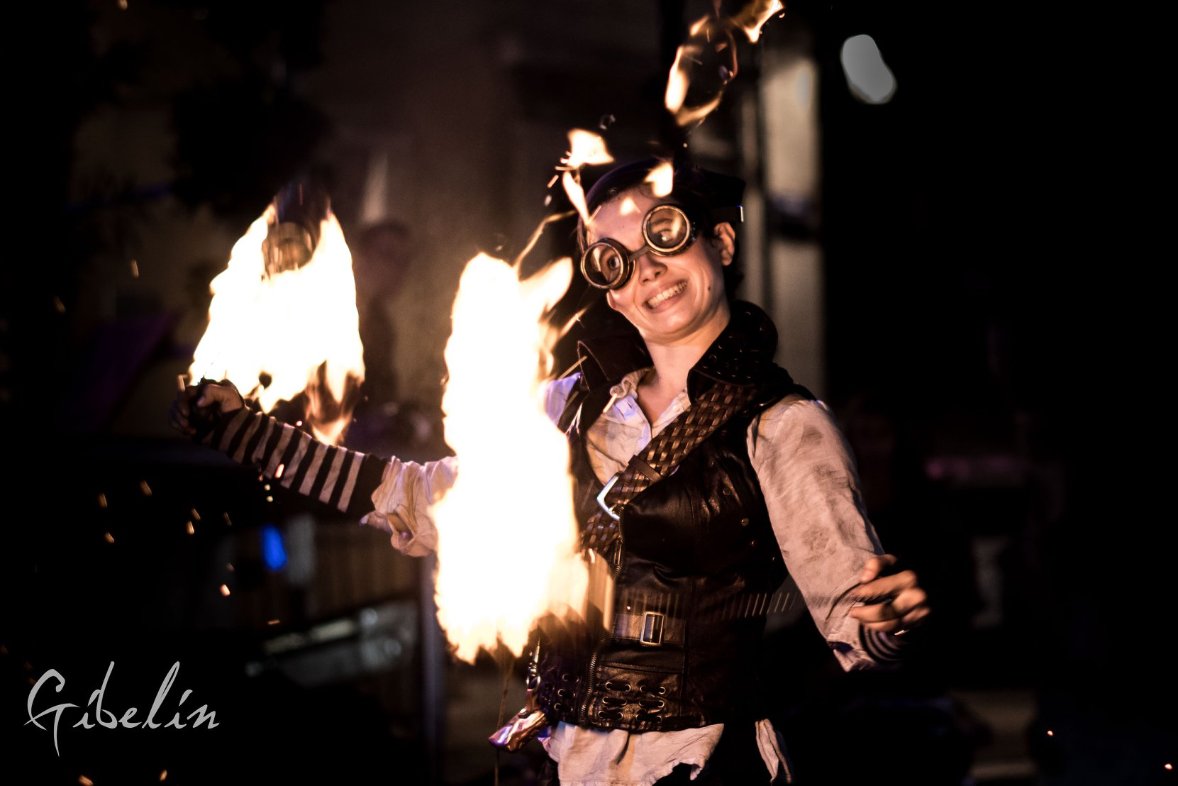 Déambulation pirate, déambulation steampunk, spectacle de feu, fire fhow