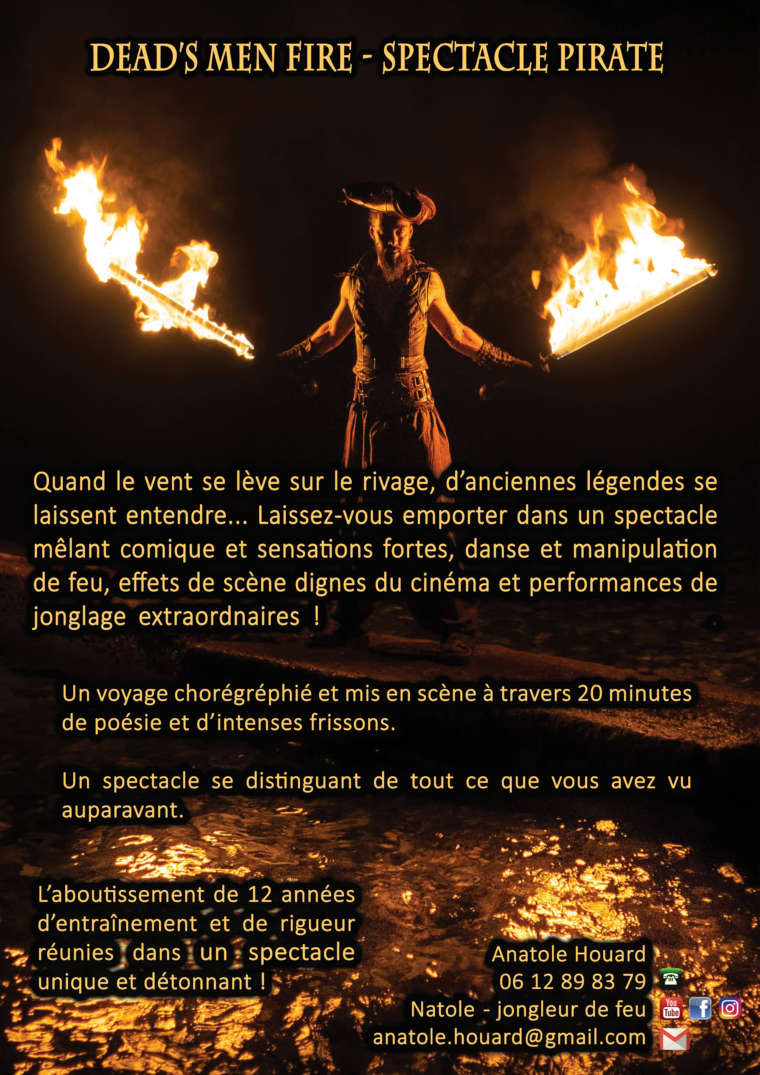 Spectacle feu pirate – Dead's men fire