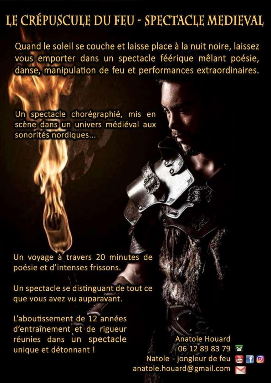 Spectacle de feu médiéval – Le crépuscule du feu