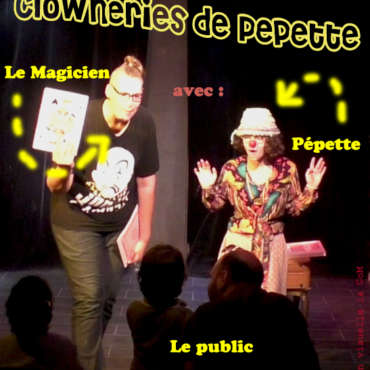 Les clowneries de pepette, Spectacle de jonglage enfant, spectacle tout public, théatre, humour, clown, magie, jonglage compagnie Arteflammes Cie Art Et Flammes